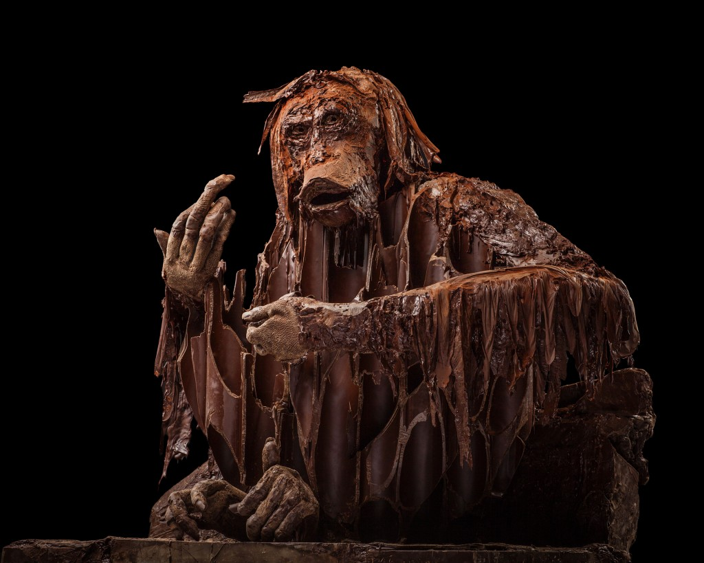 Sculpture en chocolat de Patrick Roger