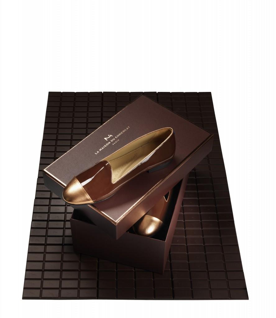 Une boîte Maison du Chocolat pour ranger ses chaussures