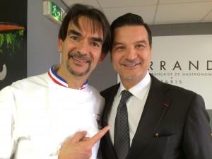 Guy Krenzer de Lenôtre et Thierry Wasser, le nez de Guerlain qui utilise aussi la lavande de la ferme Baume des Anges