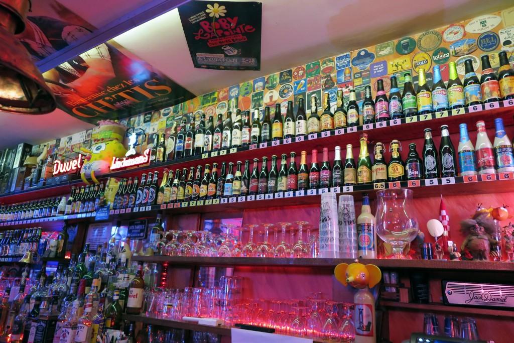 Le Troll Café affiche quelques 125 bières de diverses origines
