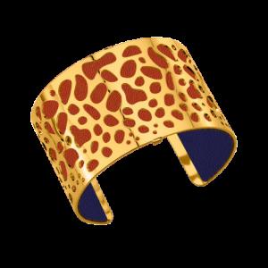 Bracelet panthère doré et cuir rouille des Georgettes
