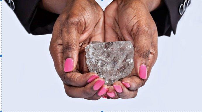 L'énorme diamant nouvellement trouvé