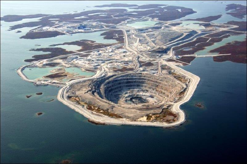 Vue d'une mine canadienne