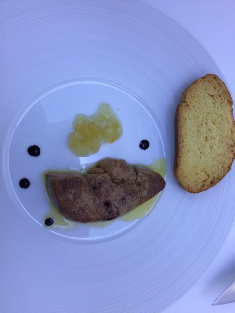 Le foie gras snacké au confit de citrons
