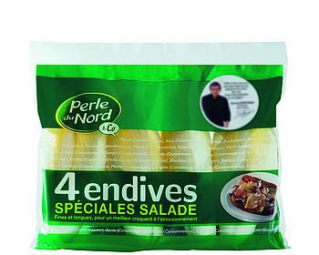 Pas moins de 5 variétés d'endives en sachets chez Perle du Nord
