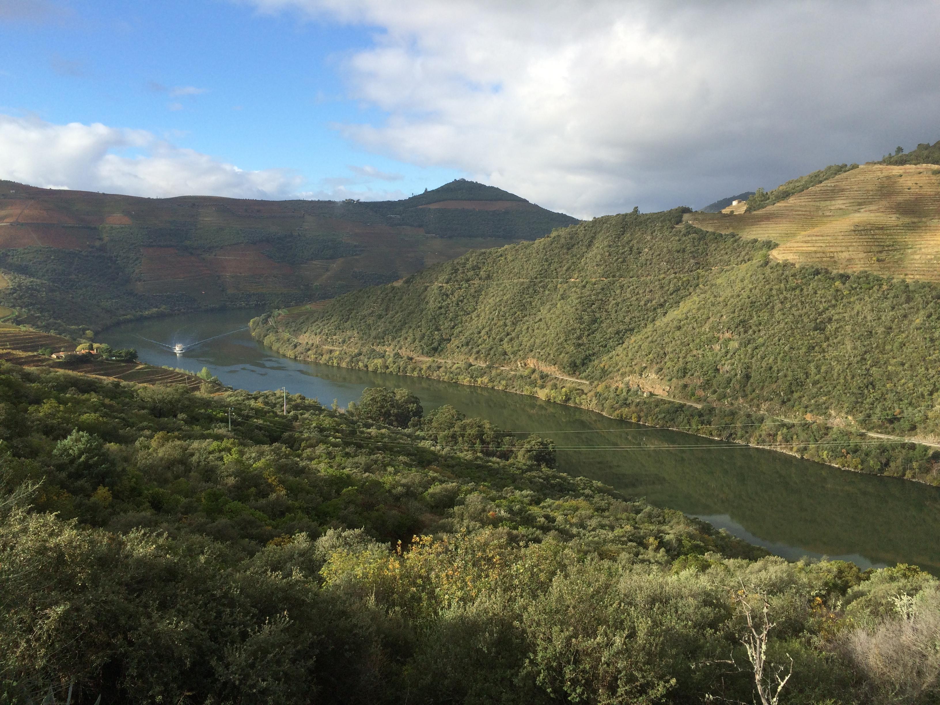 Vue sur les paysages du Douro