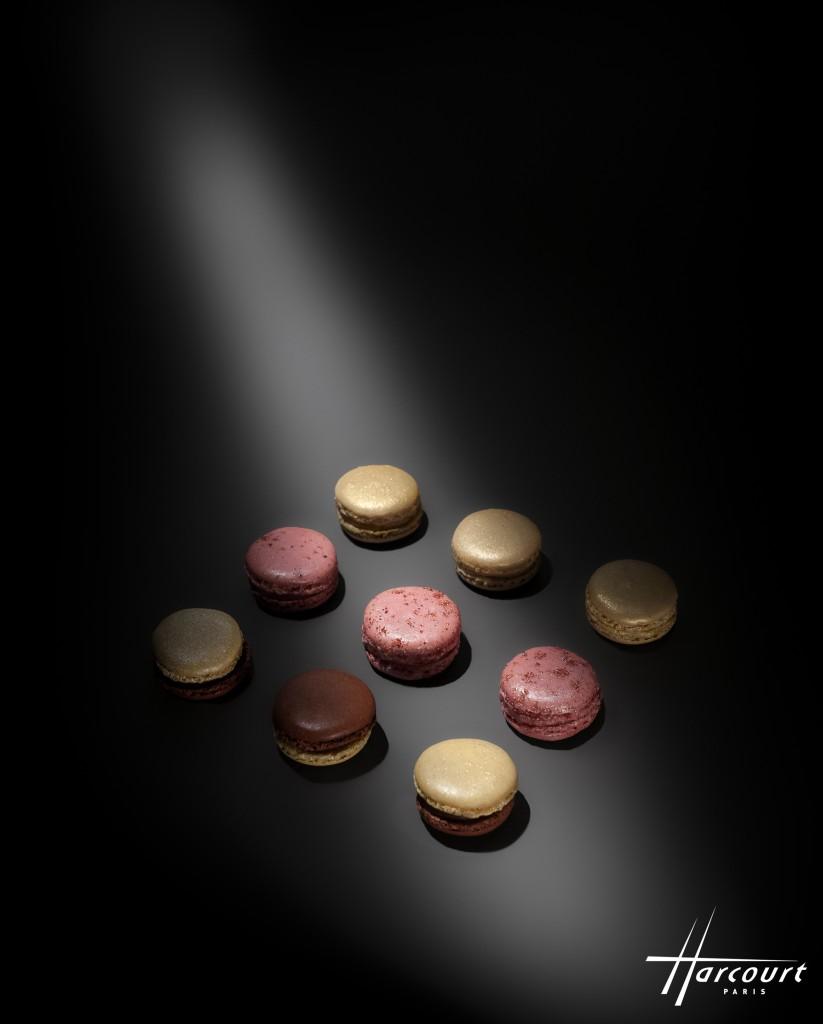 Starisés par le studio Harcourt, les macarons de fêtes de Dalloyau