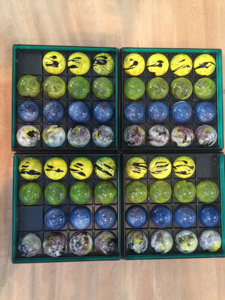 Les demi sphères chocolats