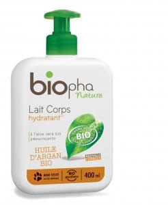 Le lait corporel bio Biopha