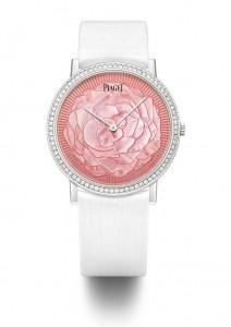 Une rose au coeur de la montre Piaget