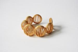 Bracelet doré mat