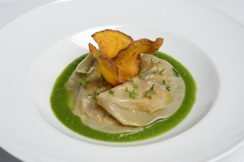 Raviole champignon et bellota