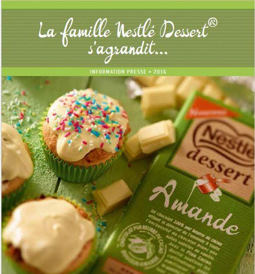 La 8 ème tablette de la gamme Nestlé Dessert