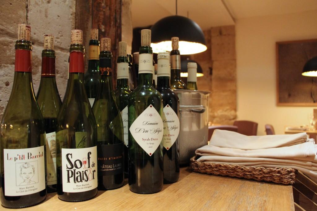 Une sélection de vins...