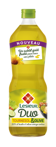 L'huile olive + tournesol pour assaisonner