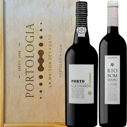 Un coffret à 34 € avec 1 vin + 1 porto