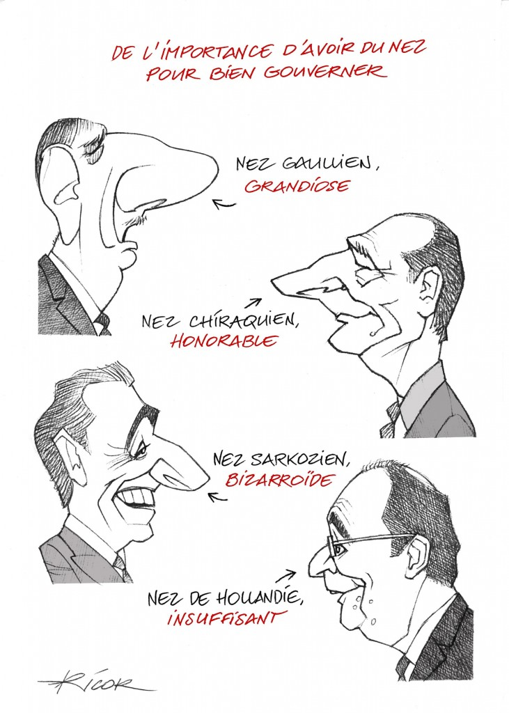 Dessins du nez de Ricor