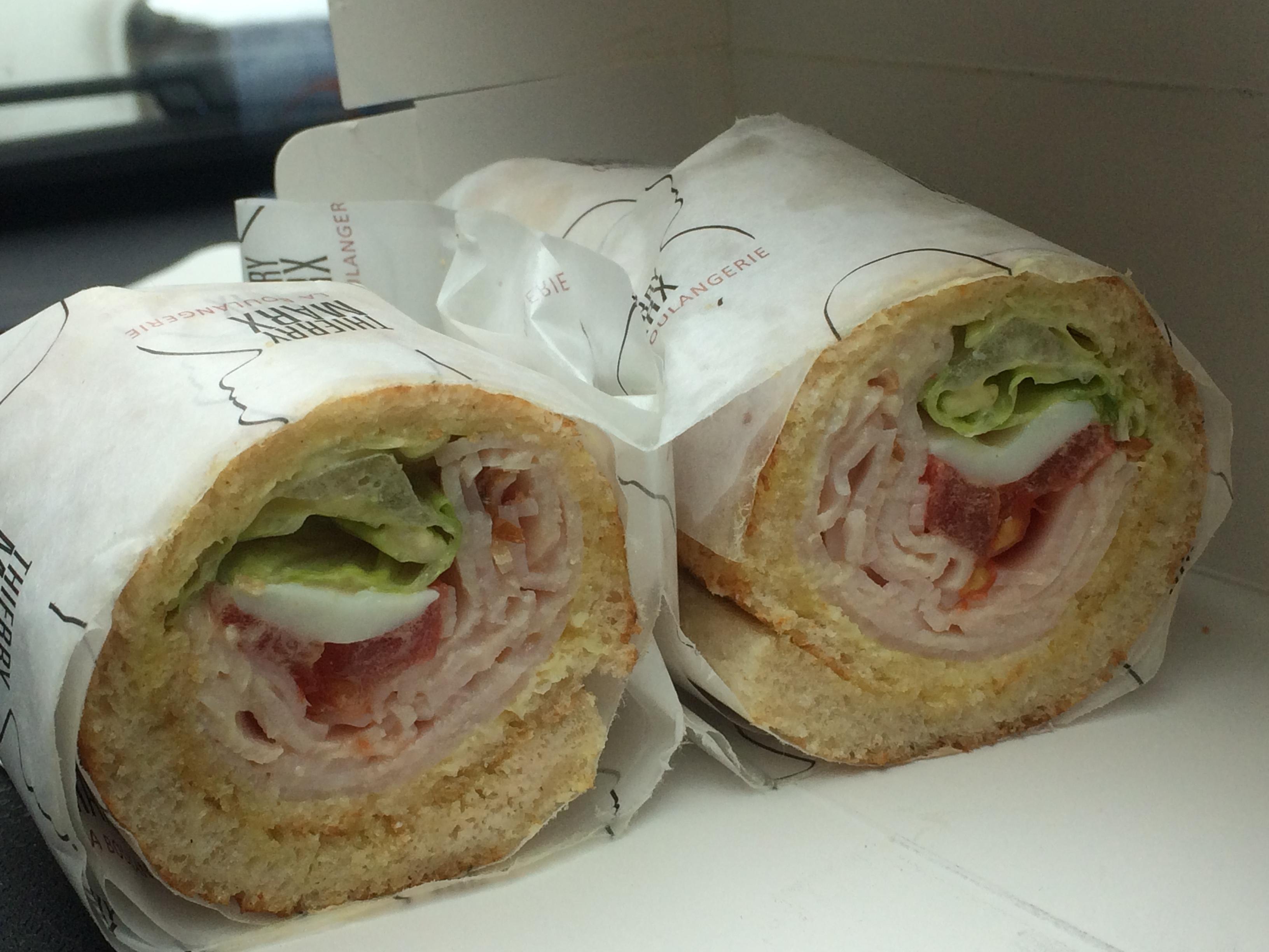 Une version roulée du sandwich