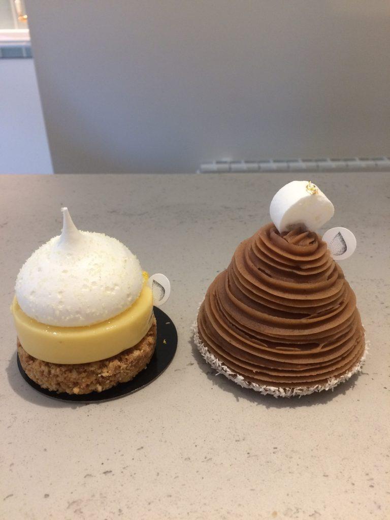 Un permanent ( la tarte au citron), un éphémère ( le Mont-Blanc) : deux desserts de Yann Menguy