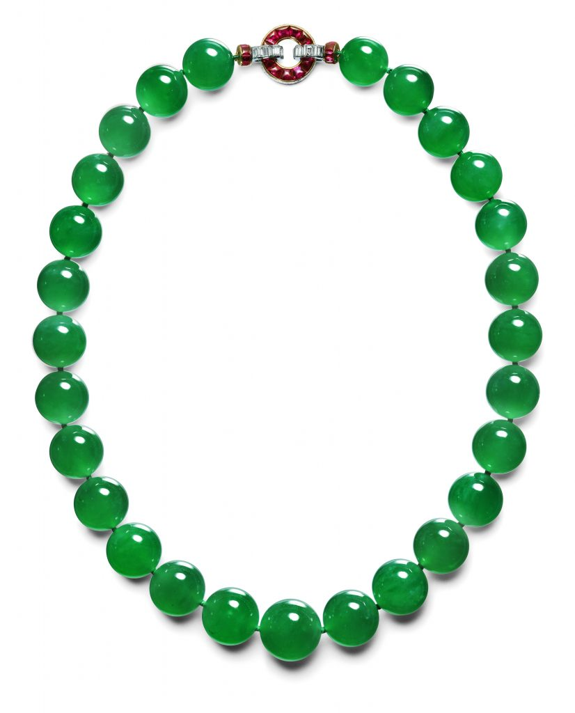 Collier de Cartier : commande de 1934 ; provenance B Hutton