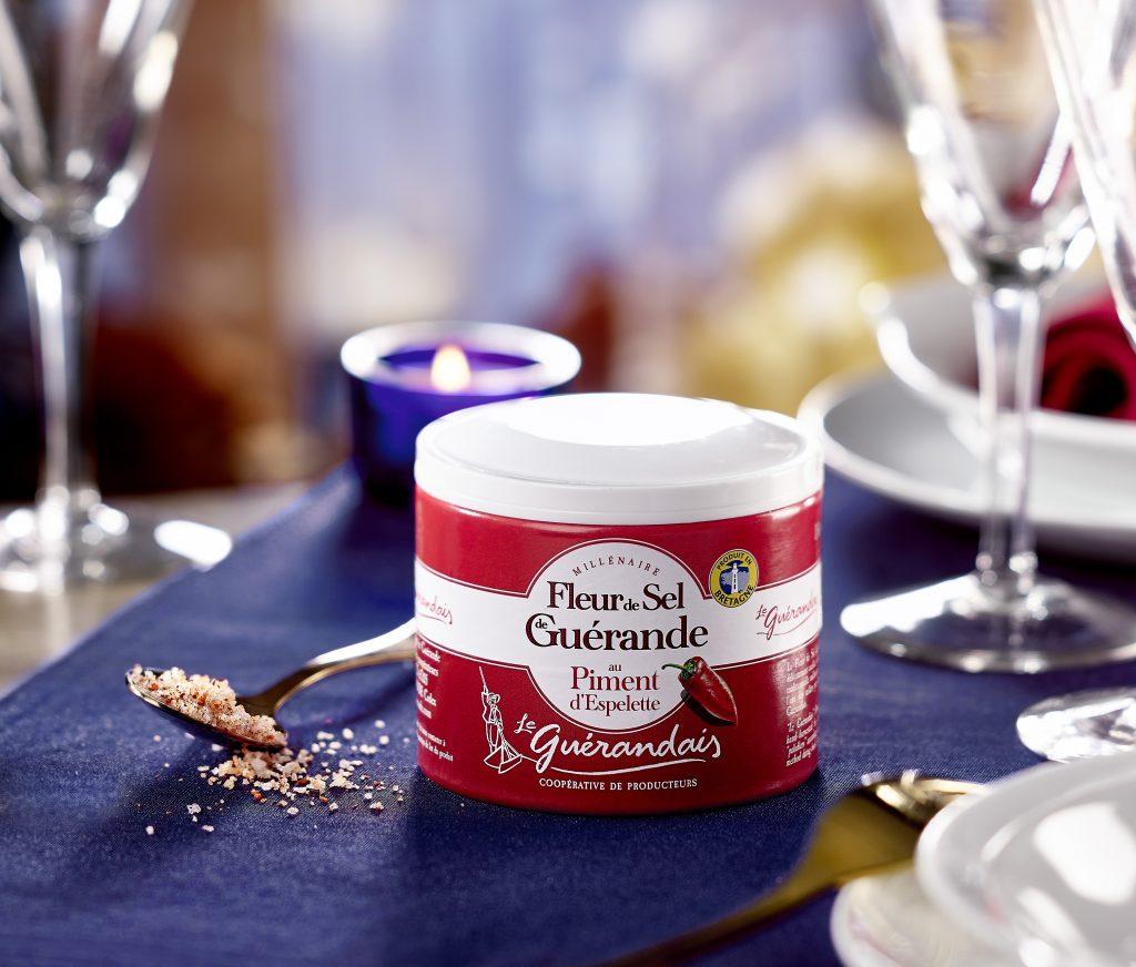 Fleur de sel de Guérande au piment d'Espelette du Guérandais