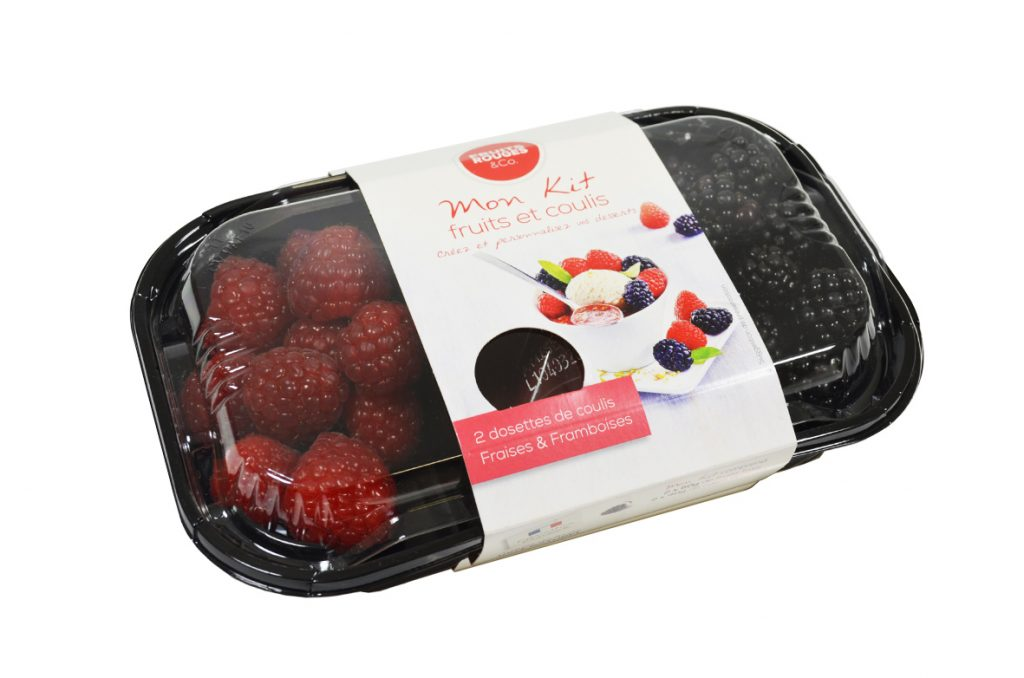 Un kit de fruits frais et de coulis Fruits Rouges & Co