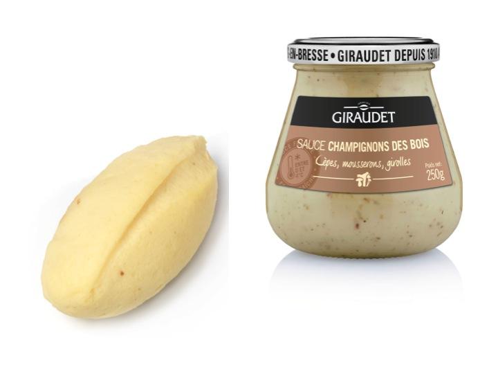 Giraudet pour une quenelle aux carpes de la Dombes accompagnée de sauce crémeuse aux champignons
