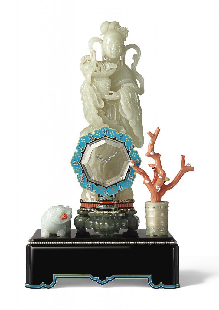 Pendule mystérieuse avec divinité, sonnerie au passage ; Cartier 1931
