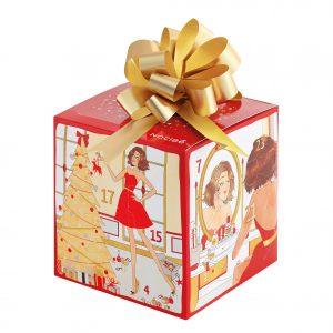 Le calendrier Nocibé en forme de boîte cadeau