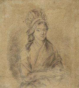 """""""Charlotte Corday assise tenant un livre"""" de J.-J. Hauer"""