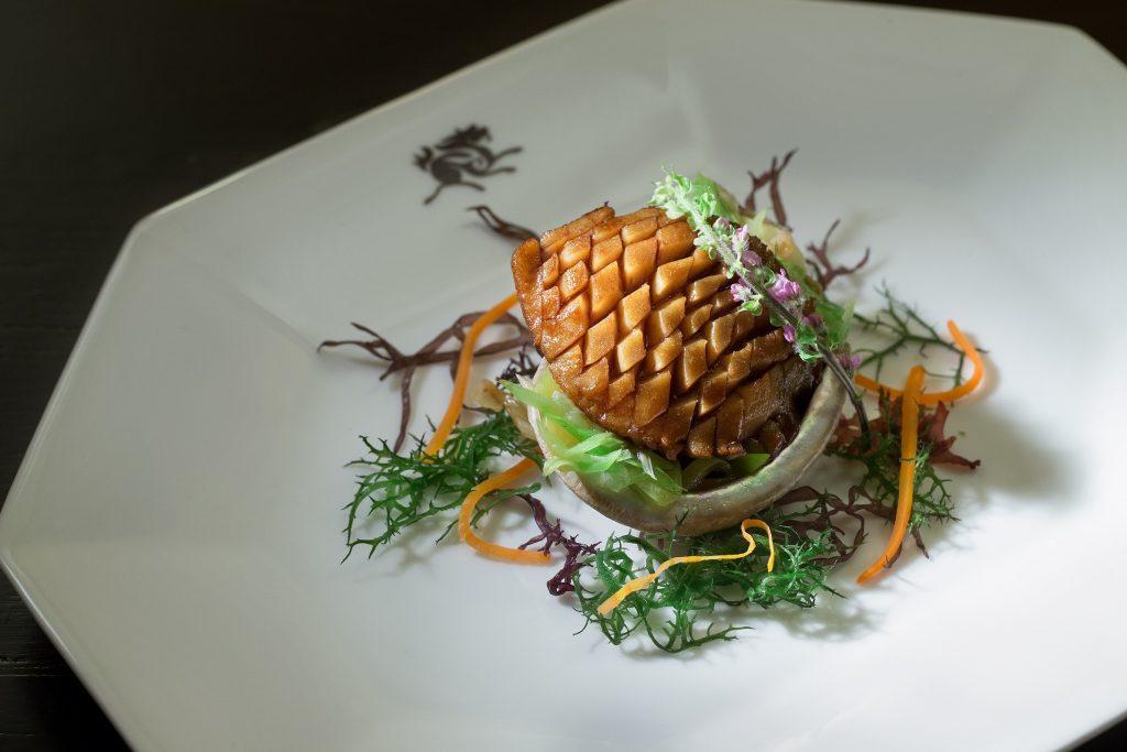 Ormeaux d'Afrique du Sud frits et sauce au soja