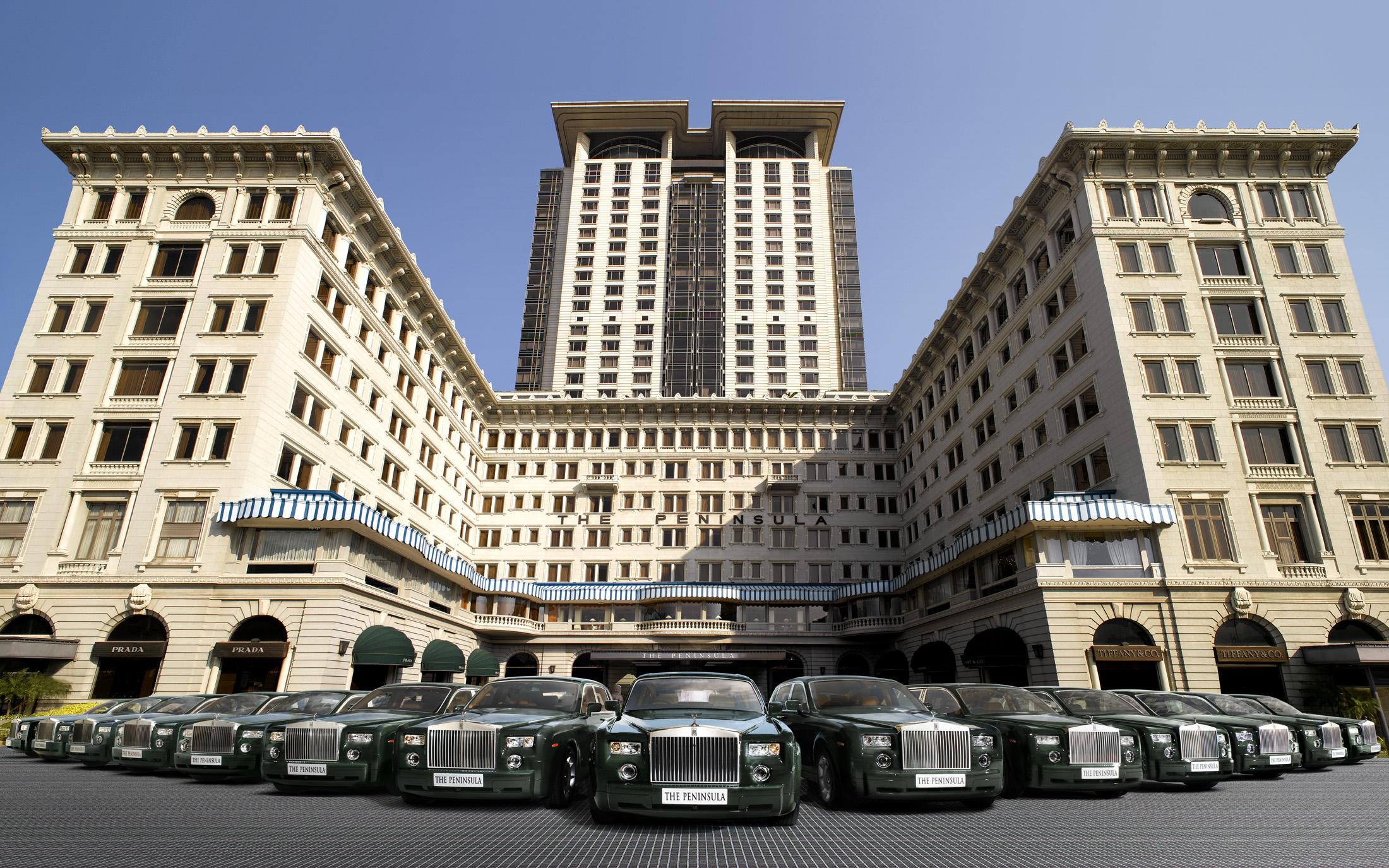 Le Peninsula et la collection de Rolls-Royce du propriétaire